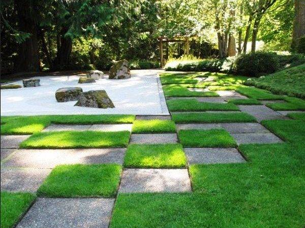 Japanese Gravel Garden Distinct Pattern Open Boundaries