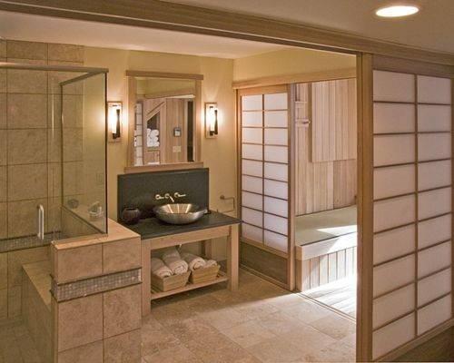 Japanese Style Bathroom Home Design Ideas