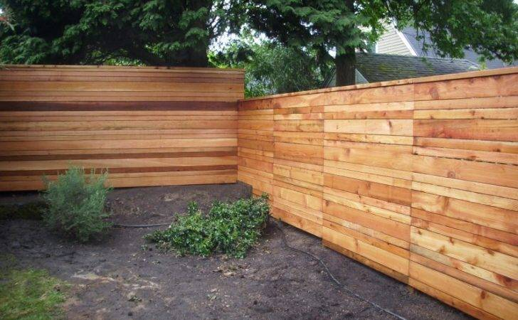Japanese Style Horizontal Board Fence Deck Masters