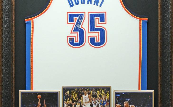 Jerseys Kevin Durant Signed Jersey White Framed