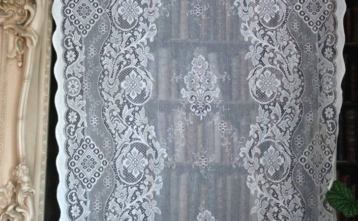 Jessica Beautiful Victorian Design Cotton Lace Curtain