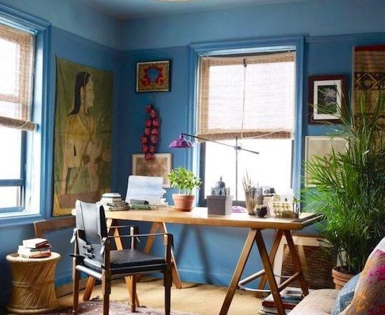 John Robshaw Office Ideas Pantone Color Blue Rooms Interior
