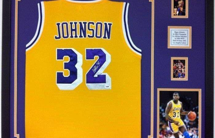 Johnson Autographed Framed Los Angeles Lakers Jersey Signed Ebay