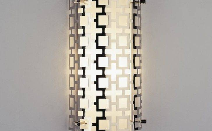 Jonathan Adler Grid Wall Sconce Available Colors Antique Brass
