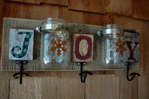 Joy Coat Rack Two Mason Jars Pineknobsandcrickets