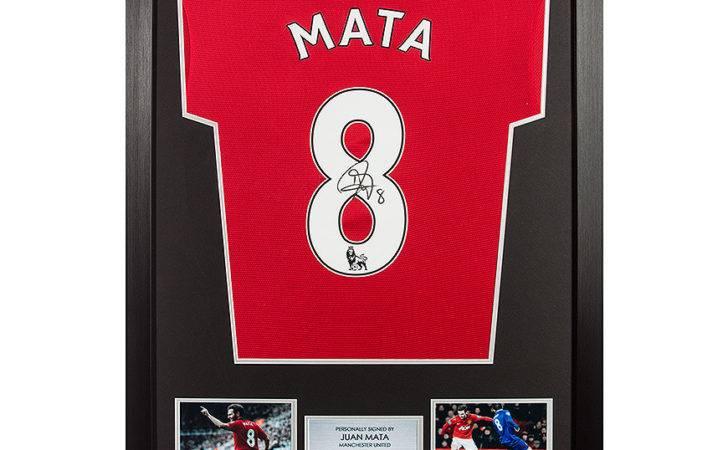 Juan Mata Signed Framed Shirt Framing