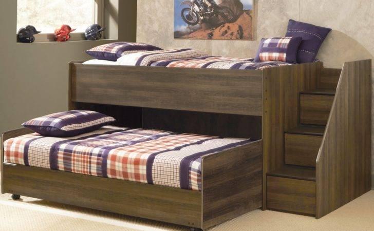 Juararo Loft Bed Caster Stairs Kids Low Bunk