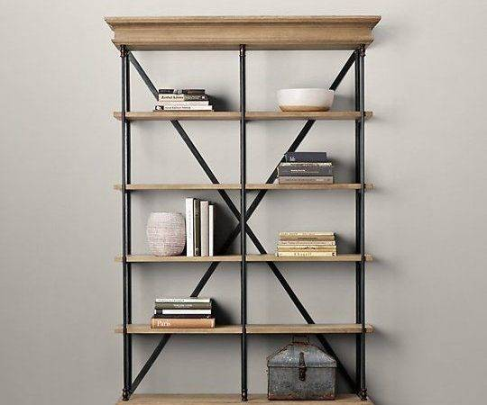 Julia Product Research Industrial Style Bookcase Under
