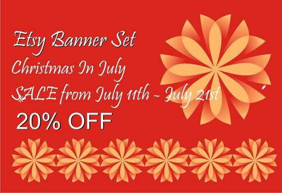 July Example Shop Banner Your Avatar Etsy