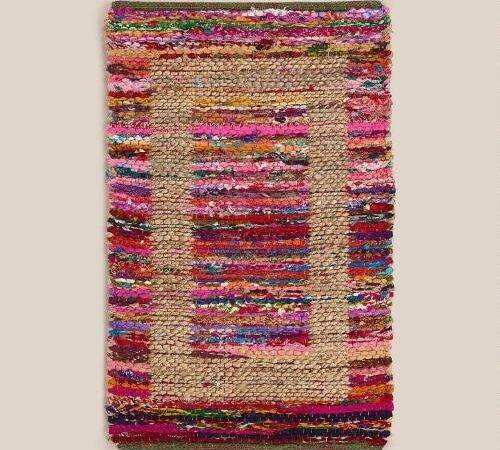 Jute Bordered Recycled Cotton Rug World Market