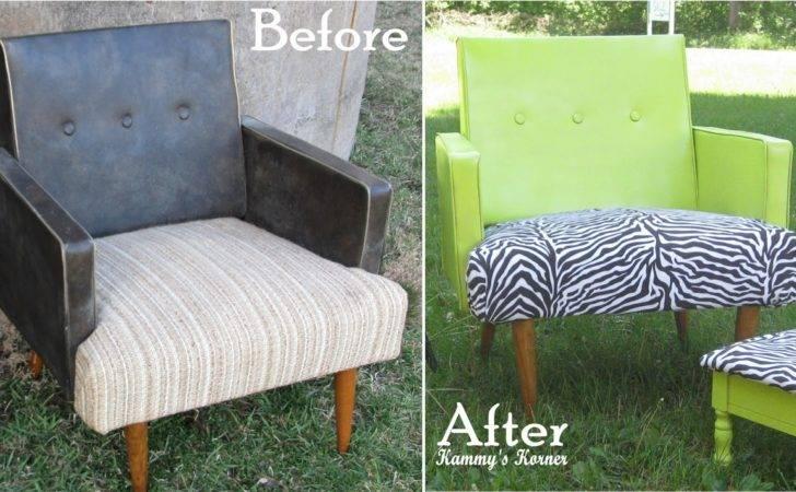 Kammy Korner Spray Painted Vinyl Zebra Chair