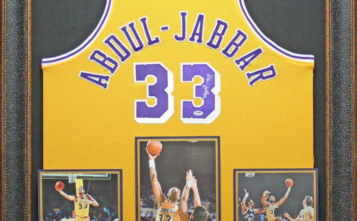 Kareem Abdul Jabbar Autographed Jersey Framed Ebay