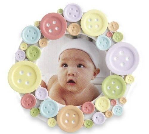 Kate Aspen Round Frame Cute Button