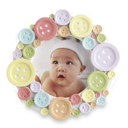 Kate Aspen Round Frame Cute Button