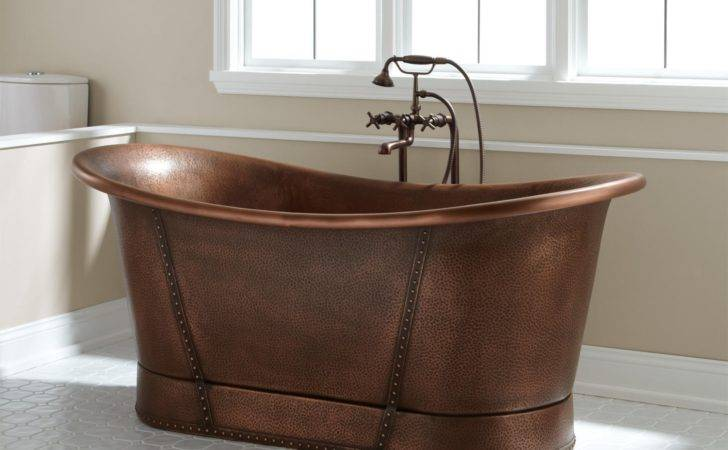 Kendi Bateau Copper Tub Bathtubs Bathroom
