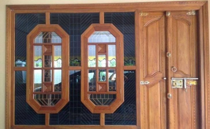 Kerala Style Wooden Window Works Modern Frame Carpenter