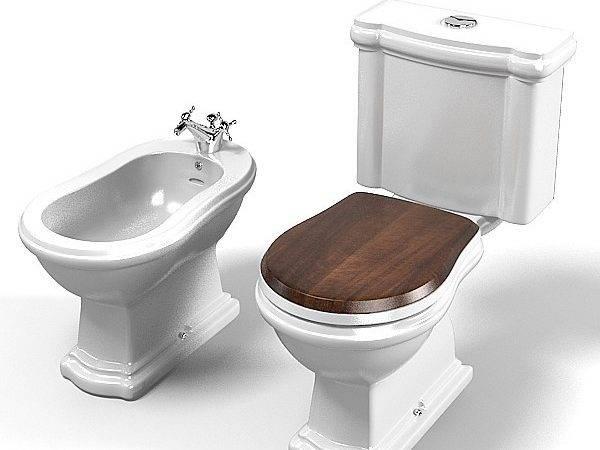 Kerasan Toilet Bidet Lavatory Closet Basin Water Bowl Retro Classic
