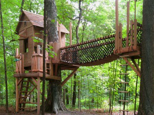 Kids Treehouse Designs Some These Cool They Would Even