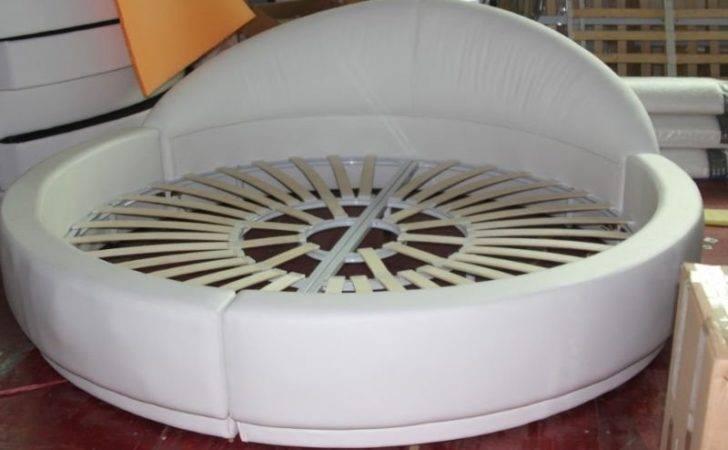 King Modern White Round Bed Buy