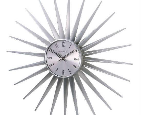 Kirch George Nelson Metal Sunburst Clock Clocks