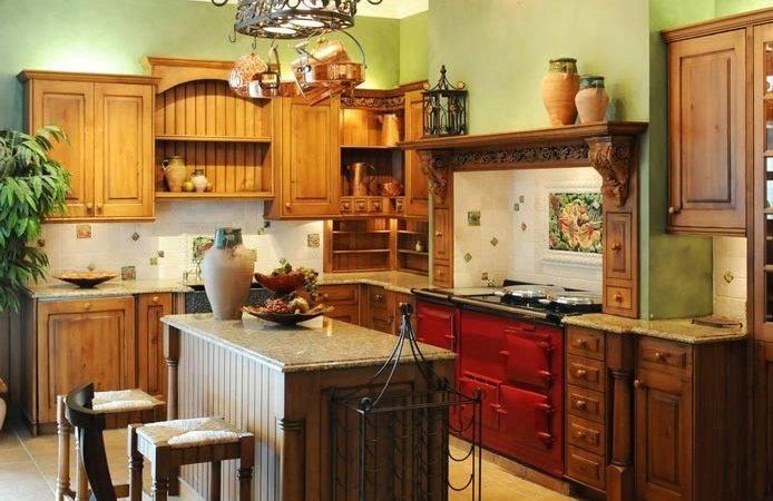 Kitchen Above Cabinets Design Ideas Italian Themed