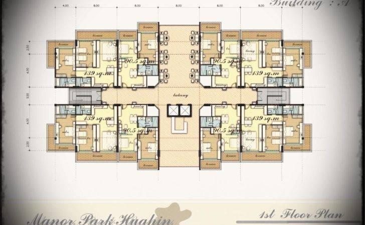 Kitchen Apartment Building Floor Plan Modern Excerpt