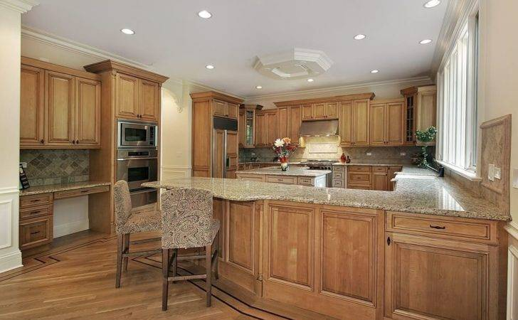 Kitchen Awash Natural Warm Wood Tones Punctuated Light