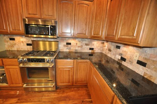 Kitchen Backsplash Ideas Black Granite Countertops