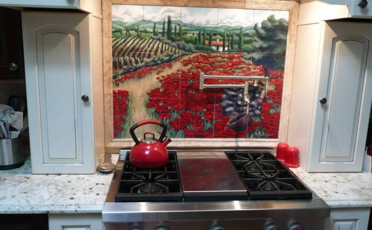 Kitchen Backsplash Tile Mural Painting