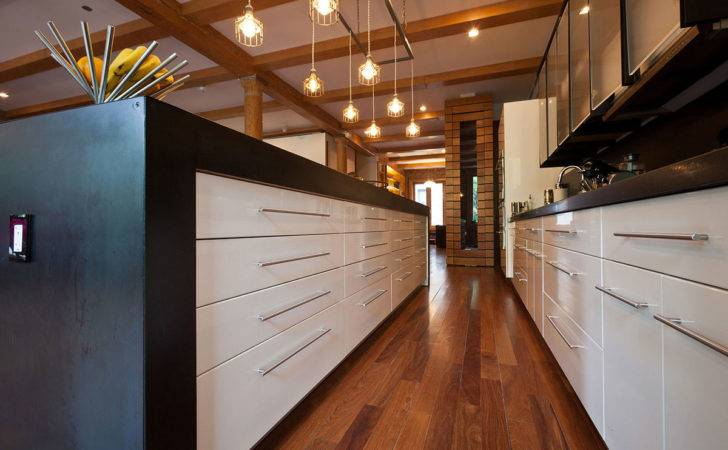 Kitchen Black White Units Loft Noho New York City