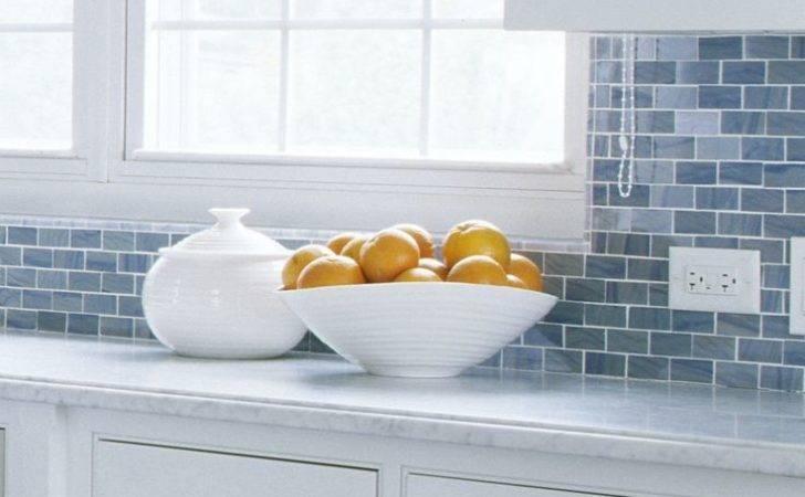 Kitchen Cabinet Designs Blue White Tile Backsplash