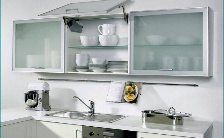 Kitchen Cabinet Doors High White Cabinets Frosted Glass