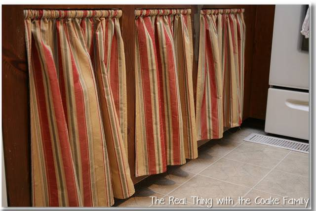 Kitchen Cabinet Ideas Curtains Doors