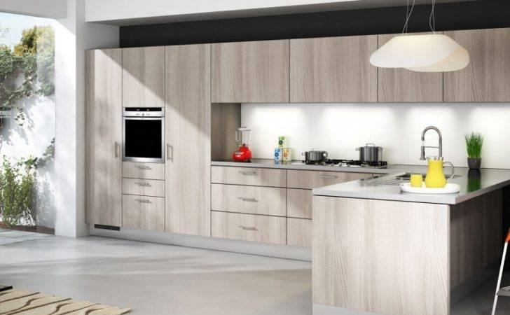 Kitchen Cabinets Cabinet Style Off Grey Oak Rta Modern