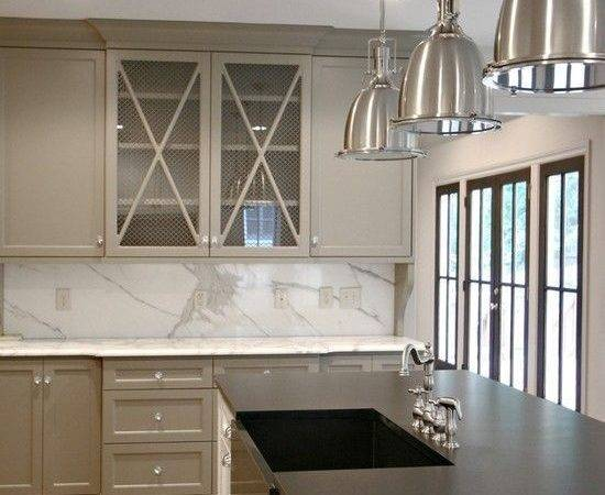 Kitchen Cabinets Glass Front White Island