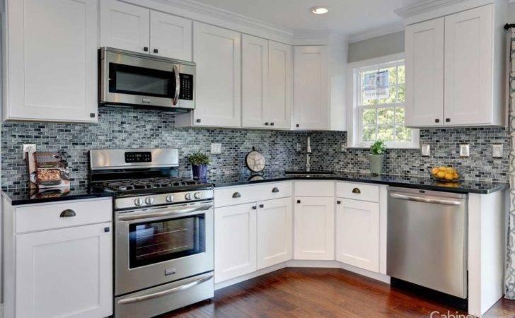 Kitchen Cabinets Shaped Used Backsplash Ceramic Types Cabinet