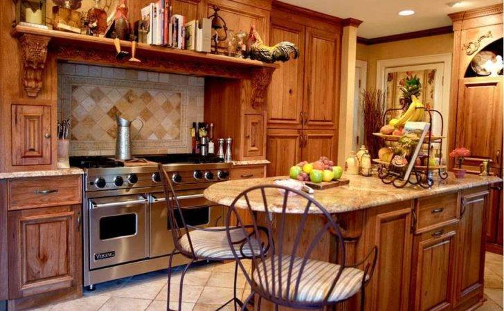 Kitchen Country Style Cabinets Italian Themed Rugs