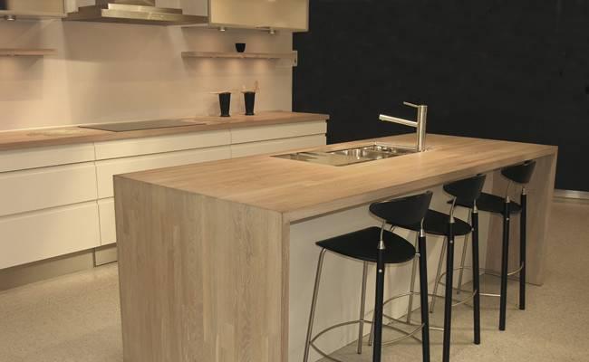 Kitchen Cream Furniture Native Oak Worktops Island Unit