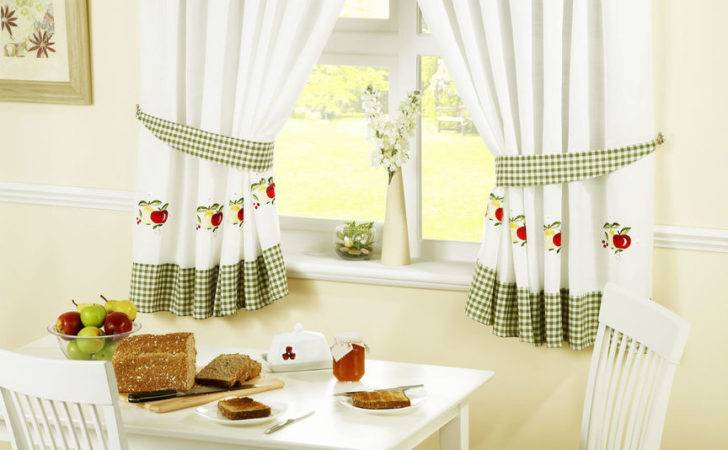 Kitchen Curtains Fruits Tie Backs Inc Pelmet Sold Separate