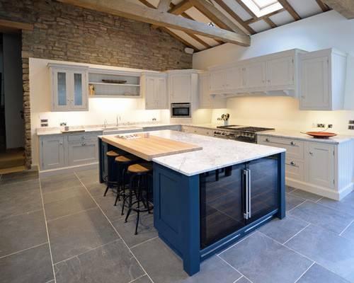 Kitchen Design Ideas Renovations Photos Blue Cabinets