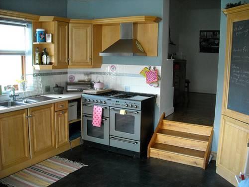 Kitchen Design Wood Blue Grey Kartell Open Plan Slate