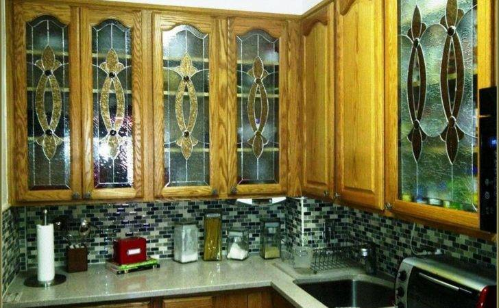 Kitchen Etched Glass Cabinet Doors Sauce Pans Specialty