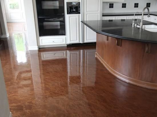 Kitchen Floor Covered Metal Fusion Mocha