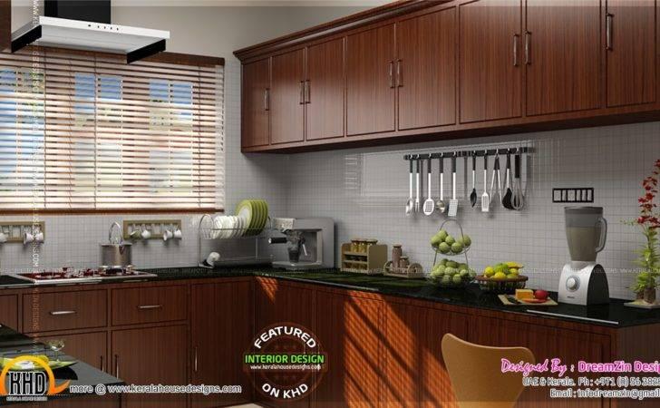 Kitchen Interior Dining Area Design Kerala Home