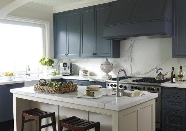 Kitchen Kitchens Interior Marble Blue Benjamin Dhong