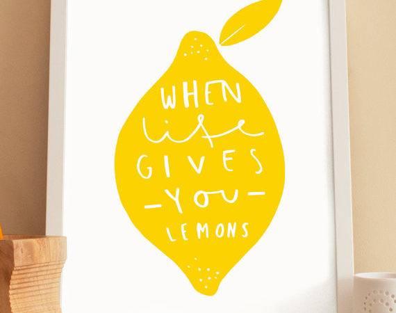 Kitchen Lemon Print Ideas
