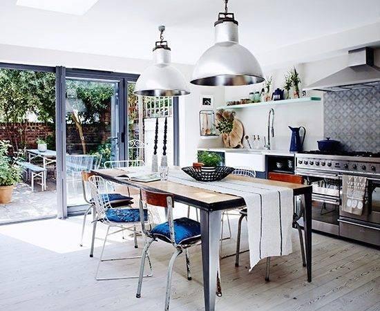Kitchen Pops Blue Modern Design Ideas