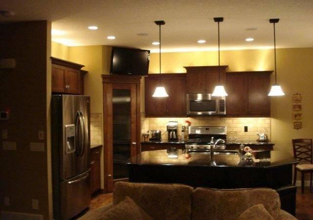 Kitchen Pot Lights Pendants Under Over Cabinet Lighting
