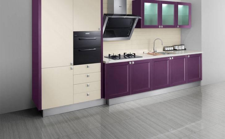 Kitchen Purple Grey Walls Design Ideas