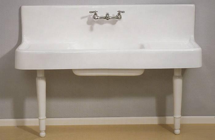 Kitchen Sinks Still Offered Vintage Style Drainboard